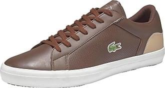 1 Braun Weiß 418 Lacoste Sneaker Lerond Hellbeige RqcXwBtw