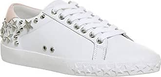 Benommen Weiße Ash Uk Trainer 8 Pulver Damen Leder Nieten amp; CwwOtgq