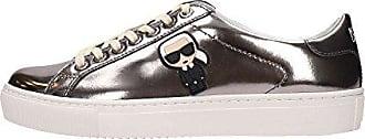 Mirror Damen Leather Ikonic Silver Karl Sneaker Lagerfeld Schuhe Lace Kl610331md O7pwq81