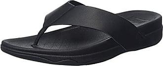 Negro Surfer black Eu Hombre Fitflop leather Sandalias De Punta 44 Descubierta Para 87wpRqgnZ