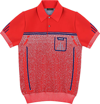 Short Polo Shirt Prada With Logo sleeved Red fqAwS5R