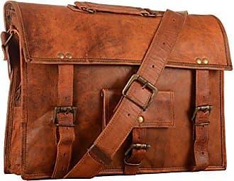 10cm handtasche Ranzen Leder X Braun Groß 38 Paper Weinlese 28 High YEwv1v