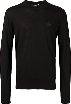 Pull Dolce amp; Brodé Gabbana Logo Noir À Poitrine xxSCaqw6