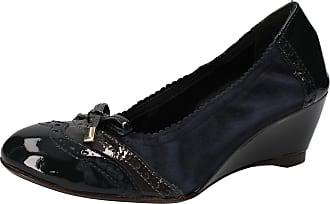 Verni Chaussures Escarpins Cuir Calpierre Ad573 Bleu Daim Femme YFRTx