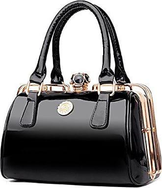 blacksmall Weibliche Schulter onesize Stilvolle Handtasche Lackleder Einfache Und Paket Bfmei Diagonale fqwpBzxR