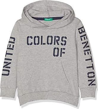 Gris Kl Melange hood Niños Del W Suéter Sweater talla Única Benetton Para Fabricante grigio 501 YqHFw