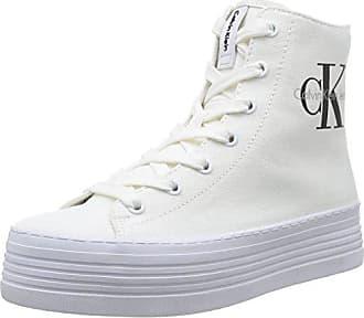 Zabrina Eu Damen Klein Calvin Weiß wht Canvas Jeans 37 High top tvPZ7