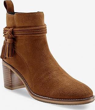 Cuir À Boots Et Foncé Pompons En Beige Velours Blancheporte Talon IEaqy