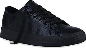 cdc78ada7600f8 Turn Flandell Sneakers Sneaker Schwarz Flats Sport Metallic Stiefelparadies  36 Schuhe Denim Damen Glitzer Low 119740 Schnürer RgwzxZ
