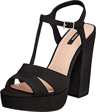 Black 40 Bout Heeled Eu Strap Ouvert Only Sandal Onlallie Femme Noir WqAan8O