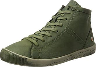 Softinos forest Green 10 Uk Isleen Leather Femme Washed Hautes Baskets wrxHrqF0Y