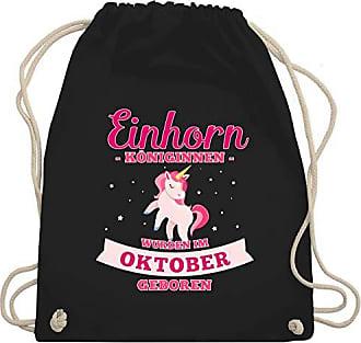 Turnbeutelamp; Wurden Geboren Unisize Schwarz Gym GeburtstagEinhorn Königinnen Bag Shirtracer Wm110 Oktober Im R5AL34qj