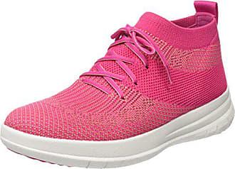 fuchsia dusky on Multicolore Femme 561 Fitflop Baskets High Sneaker Pink Slip 42 Top Eu Uberknit EAqvwz