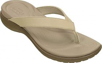Für Flip Sandalen braun Capri V Beige Crocs Damen xqU1Wg8EBw