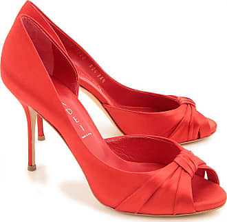 Silk 5 Casadei Sale 2017 Peep Heels 36 amp; Open Outlet In Shoes Red On Toe Pfwaq1PU