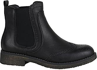 Metallic Damen Schuhe Stiefelparadies Flandell 37 Camiri Modische Schwarz Chelsea Stiefeletten Lederimitat Boots 144354 waXwqdg
