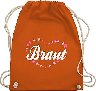 Wm110 Orange Jga Turnbeutel Blumenherz Braut amp; Bag Unisize Junggesellinnenabschied Gym Shirtracer Mit STRcAHwOAq