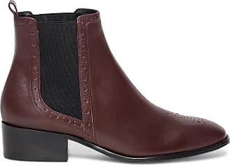 Boots Cuir Élastiques Bordeaux À Noirs Éram Chelsea 5aqx4vw7Hn