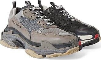 Gray And S Mesh Leather Triple Balenciaga Nubuck Sneakers qI0PCw