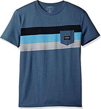 ac9259458c1 Mens Progression Peaceful L Tee Shirt Blue Quiksilver Bijou PdFqwvEd ...