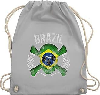 Unisize Brazil Wm110 Gym Fußball 2018Brasilien Turnbeutelamp; Hellgrau Totenkopf Shirtracer Bag Wm weltmeisterschaft IY9eDEb2WH
