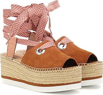 See By Suede Chloé Platform Sandals rrw0Zqd