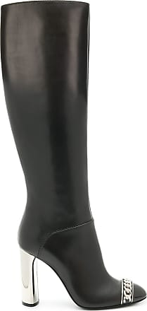 Knee Gris Boots Length Casadei Chain Embellished 0nq5fOzBw