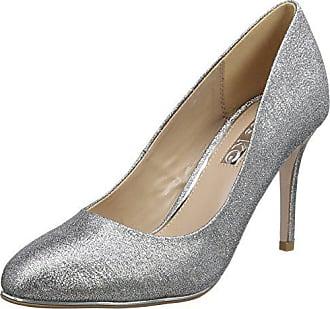 Color Cerrada 37 Punta De Kurt Con Plateado Talla Zapatos Geiger Tela Tacón Mujer 0978762609 qR14Fav