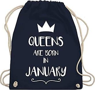 January Bag Born Shirtracer 01 Are Turnbeutel Queens In Unisize amp; Blau Navy Geburtstag Gym Wm110 w6tqUftxX