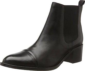 Chelsea black Boots Femme Bianco Noir 39 Eu Modischer 10 HRgqRxT