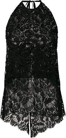 Sequin Noir Lace Stella Mccartney embellished Top 5wSn0zq