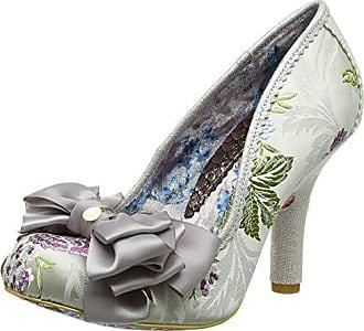 silver Con Grey Ascot Uk De Gris 39 Punta Zapatos Mujer Choice Cerrada 6 Tacón Irregular Fvx4Zq