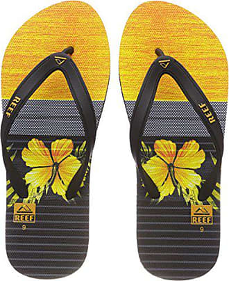 Reef 43 Switchfoot yellow Prin Eu Tongs Bly Multicolore Homme Black rr8wB7xqf