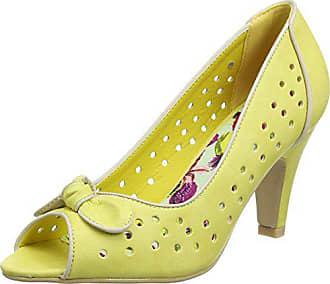 At Joe Browns A Eu Escarpins lemon Young Femme Peep Ouvert Jaune Toes 42 Bout Heart qSESxr