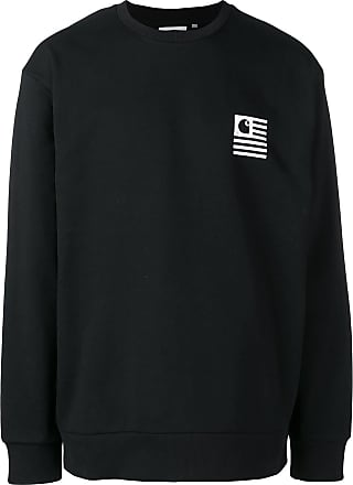 Carhartt Work Progress ImpriméNoir In à Logo Sweat Yb76myfIvg