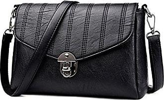 Pu Kleine beiläufige black Der Addora leder Tasche Frauen taschen schulter kreuz Quadratische Handtaschen onesize körper Arbeiten Damen Um kurier OXPiTkZu