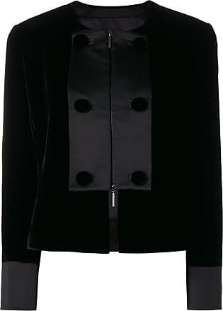 Noir Jacket Panel Contrast Giorgio Armani Cropped xga881