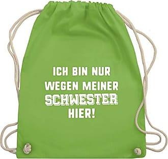 amp; Ich Hier Gym Unisize Schwester Reitsport Wegen Hellgrün Turnbeutel Bag Nur Shirtracer Bin Meiner Wm110 5qnO7Uwg0