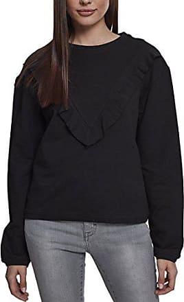 Pullover Urban L Large Volant Crew Ladies herstellergröße 00007 Classics Schwarz Terry black Damen SrxE1r