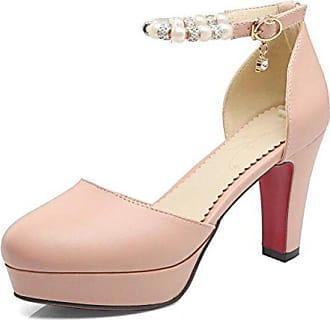 Plateau 31 Easemax Elegant Strass Geschlossen Sandalen Heels High Eu Damen Pumps Schnalle Pink rZZPwxn5Xq