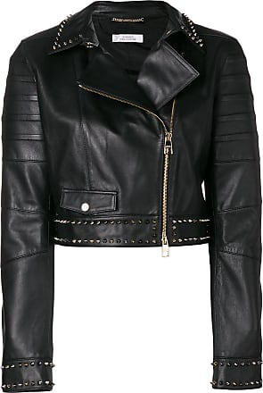 Studded Jacket Biker Versace Collection Noir 5pnnZ