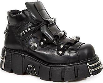 Gotisch Schwarz Absatz s3 Herren Stiefel Rock Heavy New 215 M Stiefeletten Leder Punk Männer Cw84vOqv
