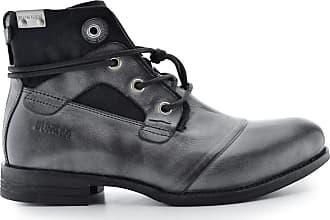 À Noir Yon Bunker Lacets Boots Cuir Ep4nCgq