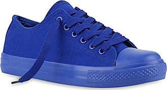 Pailletten Stiefelparadies Blau Sport Flandell Pastell Schuhe Sneakers Damen Schnürer Carlet 38 Spitze 139938 nwPkO0