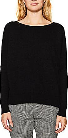 black Esprit Mujer 117ee1i009 Suéter Large Negro Para 001 BqF7XFU