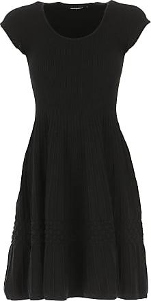 Dsquared2 Vestido 2017 Rebajas Mujer Noche En Negro Viscosa De Baratos 40 OgrxOw