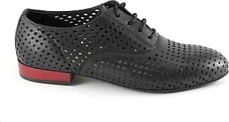 Noires Femme Cuir Lacets Chaussures En Perforé Noir Cafènoir Eb231 Br Caf xn1BXPI