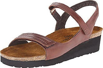 Leather Sandals Brown Luggage Eu 38 Madison Womens Naot qwIg6F6