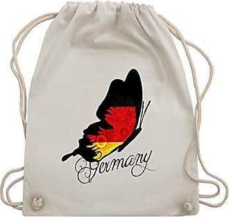 Bag Naturweiß Wm110 2020 Schmetterling Germany Turnbeutel europameisterschaft Fußball Unisize Shirtracer Gym amp; PqAYZZ