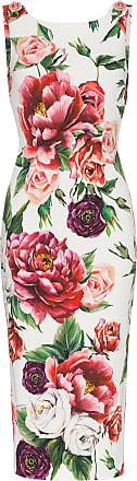 Robe Rose Moulante Mi Gabbana longue À Fleurs amp; Dolce q1RfvwnUO
